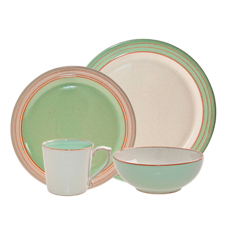 Denby Heritage Orchard Green Orchard 4 pps boxed