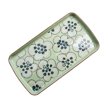 Denby Heritage Orchard Green Accent Rect Plate
