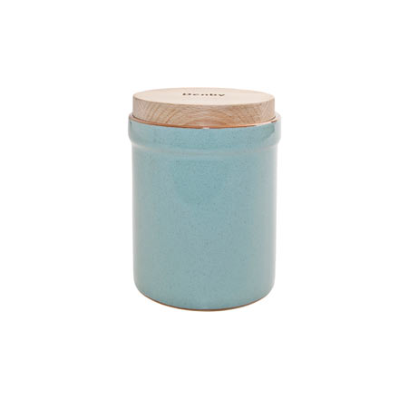 Denby Heritage Pavillion Blue Storage Jar