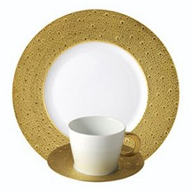 Bernardaud Ecume Gold 5 Pc Setting