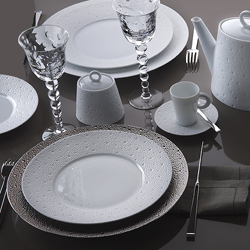 Bernardaud Ecume Platinum 5 Pc Setting