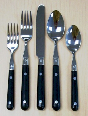 Buy stainless steel flatware sets online china royale - Flatware with colored handles ...