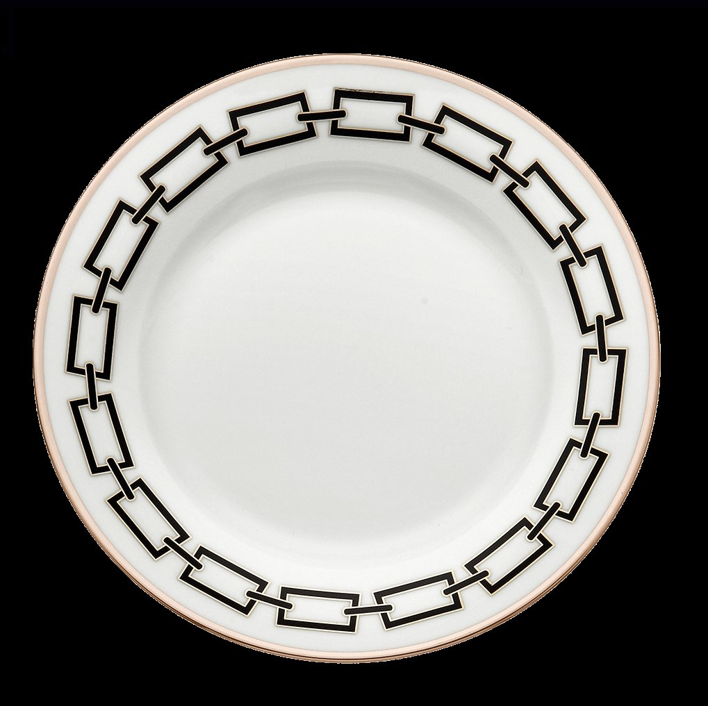 Ginori Impero Catena Black with Platinum Dinnerware