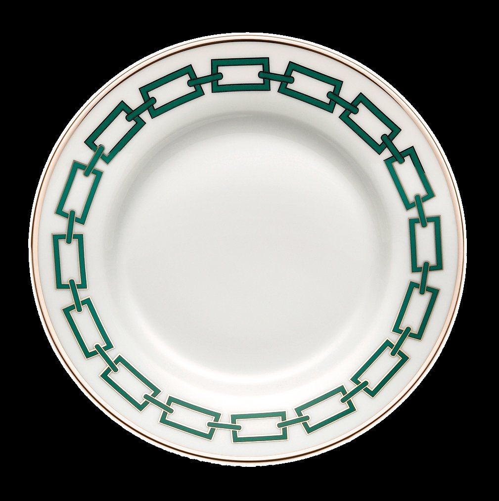Ginori Impero Catena Emerald with Platinum Dinnerware