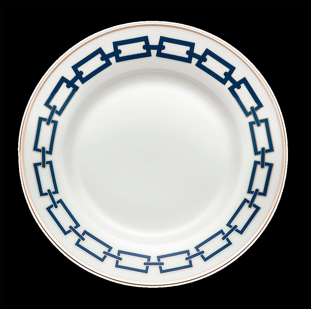 Ginori Impero Catena Blue with Platinum Dinnerware