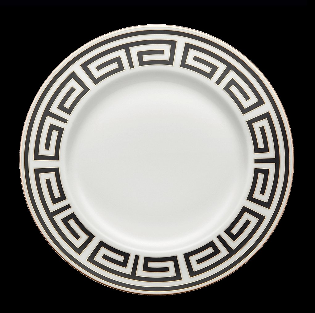 Ginori Impero Labirinto Black with Platinum Dinnerware