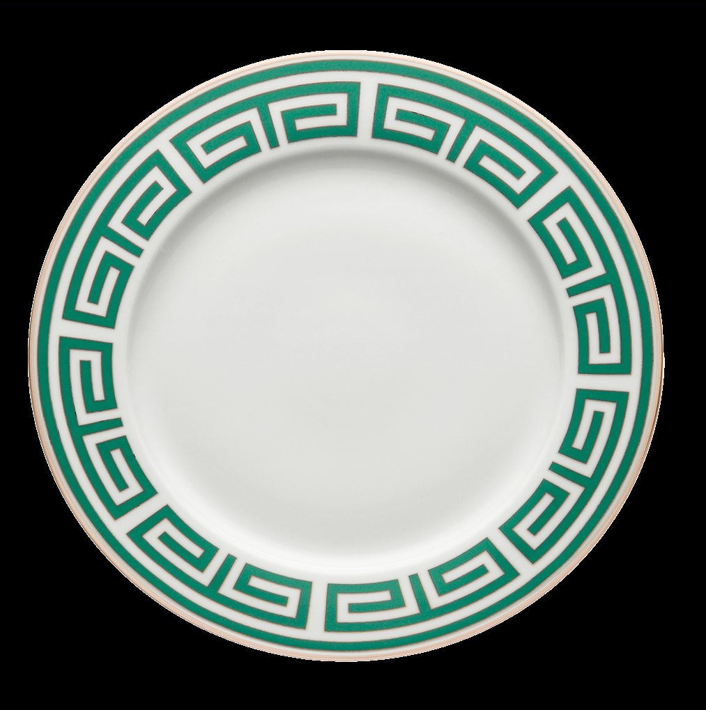 Ginori Impero Labirinto Emerald with Platinum Dinnerware