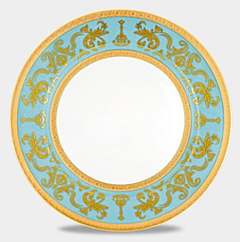 Haviland COURONNE IMPERIALE BLUE GOLD Dinnerware