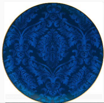Haviland DAMASSE BLUE AND GOLD Dinnerware
