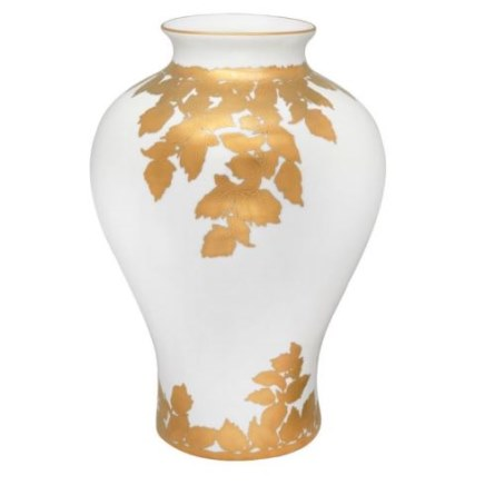 Haviland FEUILLE D'OR White Vase