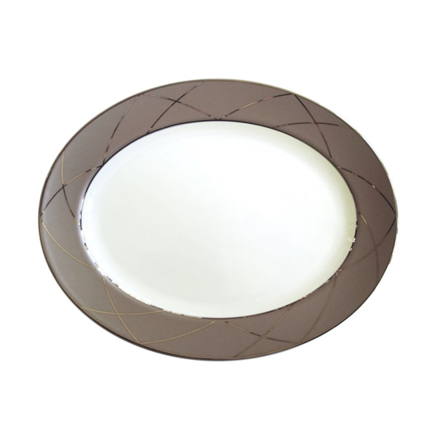Haviland AURORE WITH ARCHES Oval Platter, Medium