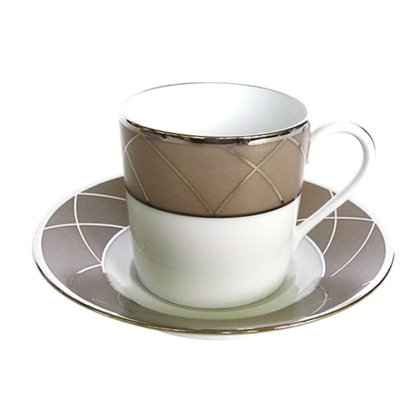 Haviland AURORE WITH ARCHES Coffee Cup/Saucer Cyl