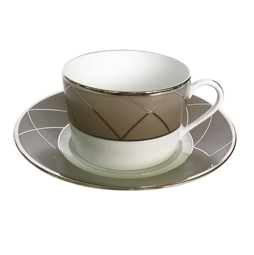 Haviland AURORE WITH ARCHES Tea Cup/Saucer Cyl