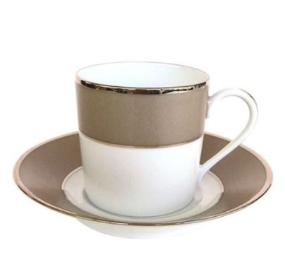 Haviland AURORE UNI Coffee Cup/Saucer Cyl