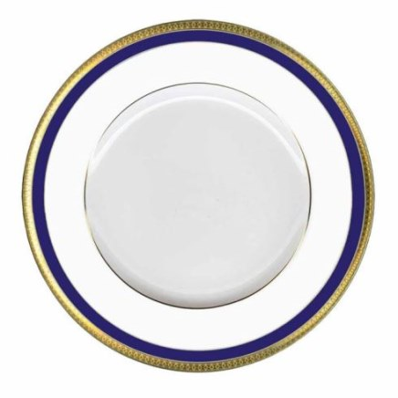 Haviland Symphonie GOLD AND BLUE Dinner Plate