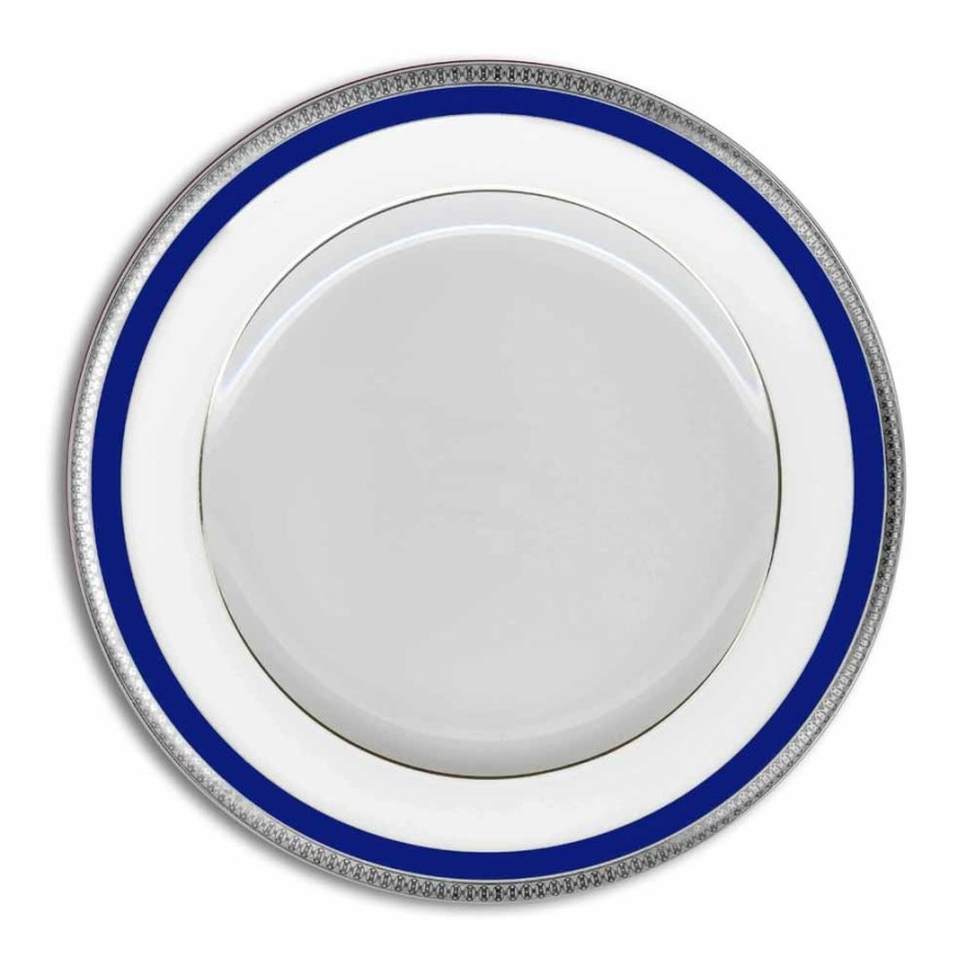 Haviland SYMPHONIE PLATINUM AND BLUE Dinner Plate