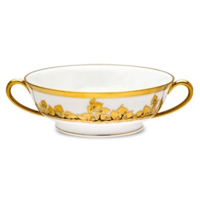Haviland FEUILLE D'OR SOUP CUP/SAUCER