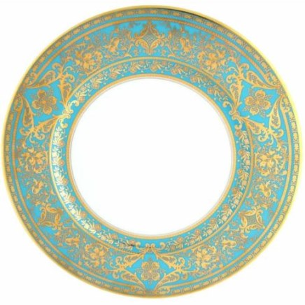 Haviland MATIGNON TURQUOISE AND GOLD Charger