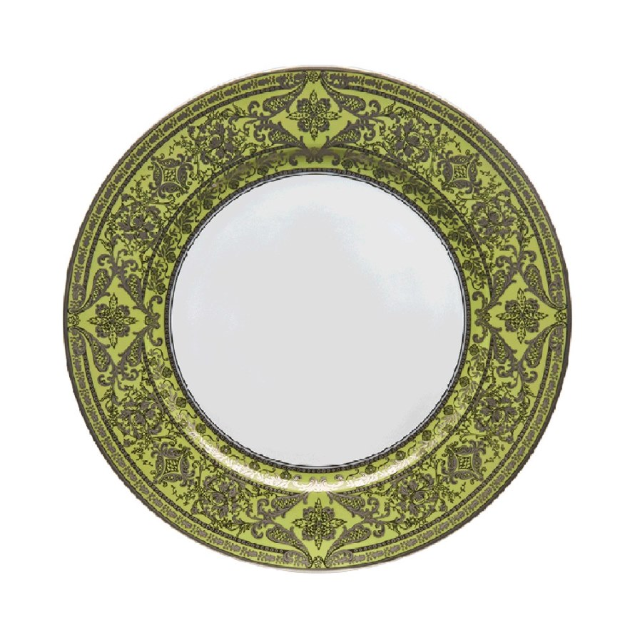Haviland MATIGNON APPLE GREEN AND PLATINUM Dessert Plate