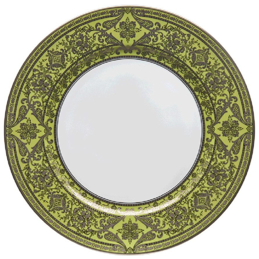 Haviland MATIGNON APPLE GREEN AND PLATINUM Charger