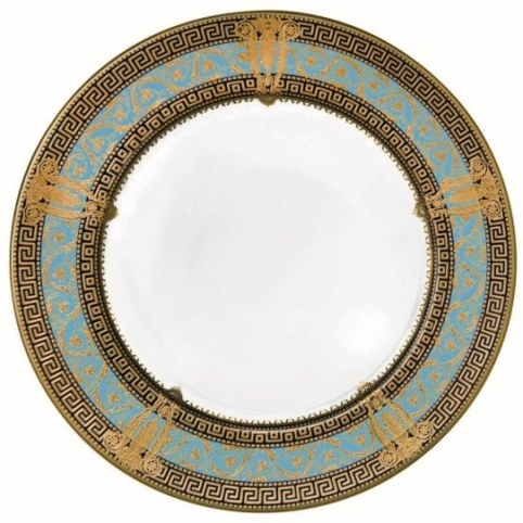 Haviland SALON MURAT TURQUOISE AND GOLD Charger with center