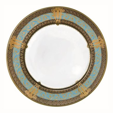 Haviland SALON MURAT TURQUOISE AND GOLD Dinner Plate