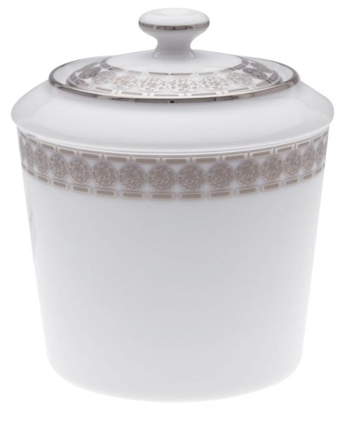 Haviland ETERNITY WHITE AND PLATINUM Sugar Box With Handles, Small