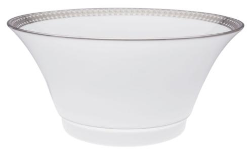 Haviland ETERNITY WHITE AND PLATINUM Salad Serving Bowl