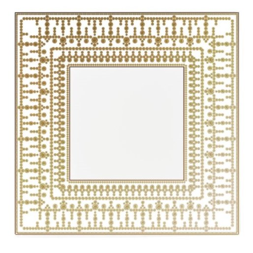 Haviland TIARA WHITE AND GOLD TRAY