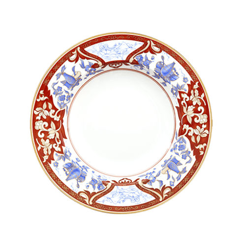 Haviland IMARI ROUGE Rim Soup Plate, Large