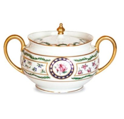 Haviland LOUVECIENNES Covered Sugar Bowl, Large