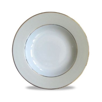 Haviland CLAIR DE LUNE UNI Rim Soup Plate, Large