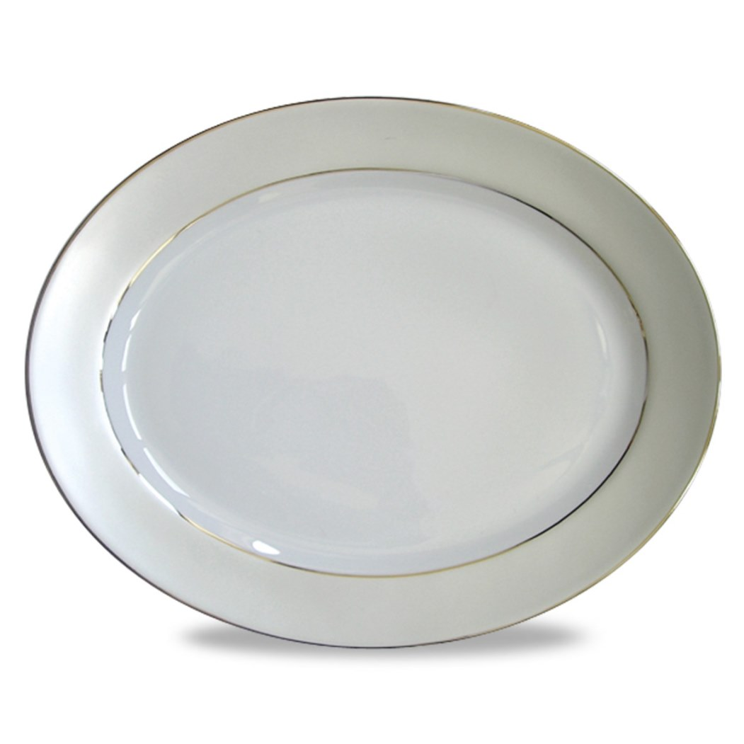 Haviland CLAIR DE LUNE UNI Oval Platter, Large