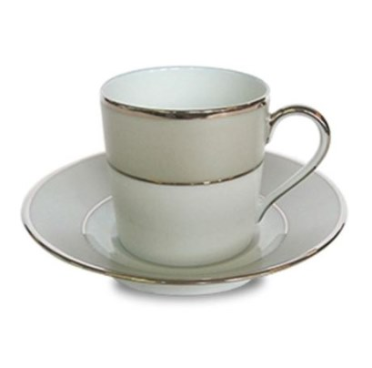 Haviland CLAIR DE LUNE UNI COFFEE CUP/SAUCER CYL