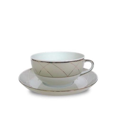 Haviland CLAIR DE LUNE W/ARCHES CAPPUCCINO CUP/SAUCER