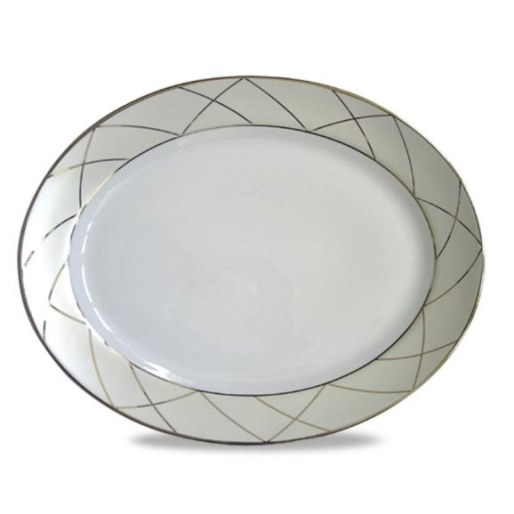 Haviland CLAIR DE LUNE WITH ARCHES Oval Platter, Large