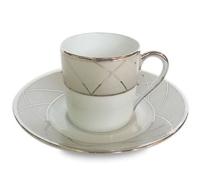 Haviland CLAIR DE LUNE WITH ARCHES Espresso Cup/Saucer Cyl