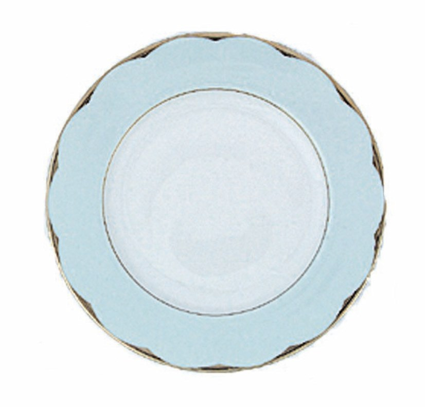 Haviland ILLUSION CELADON AND PLATINUM RIM Bread & Butter Plate