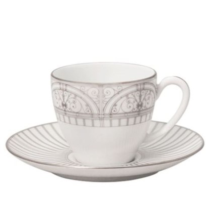 Haviland BELLE EPOQUE PLATINUM COFFEE CUP AND SAUCER