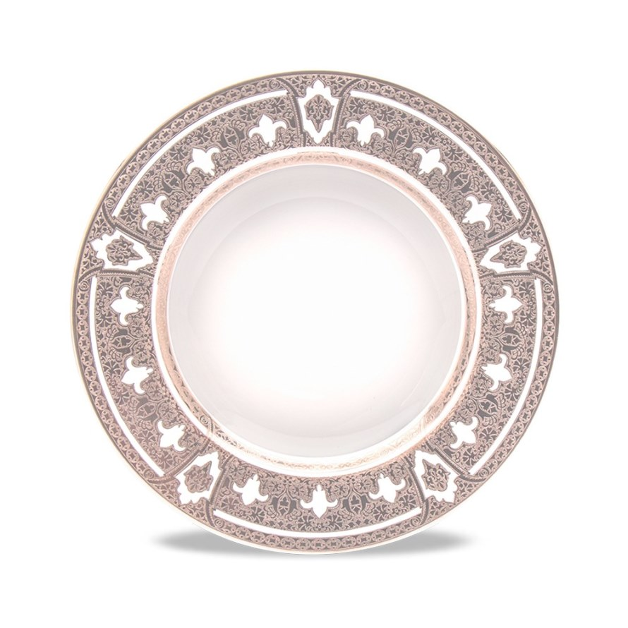 Haviland GRAND APPARAT PLATINUM Rim Soup Plate, Large
