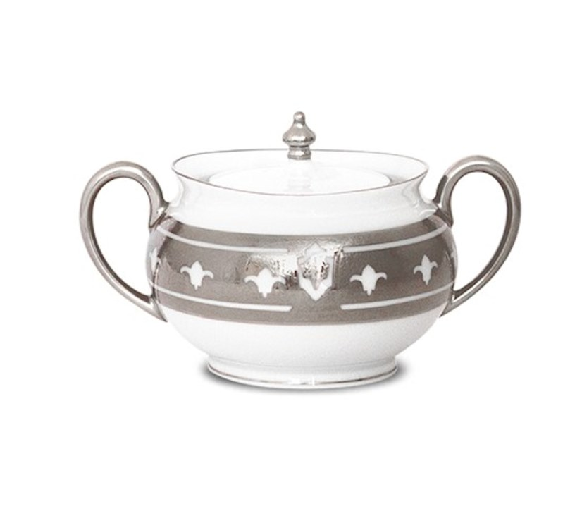 Haviland GRAND APPARAT PLATINUM Covered Sugar, Large