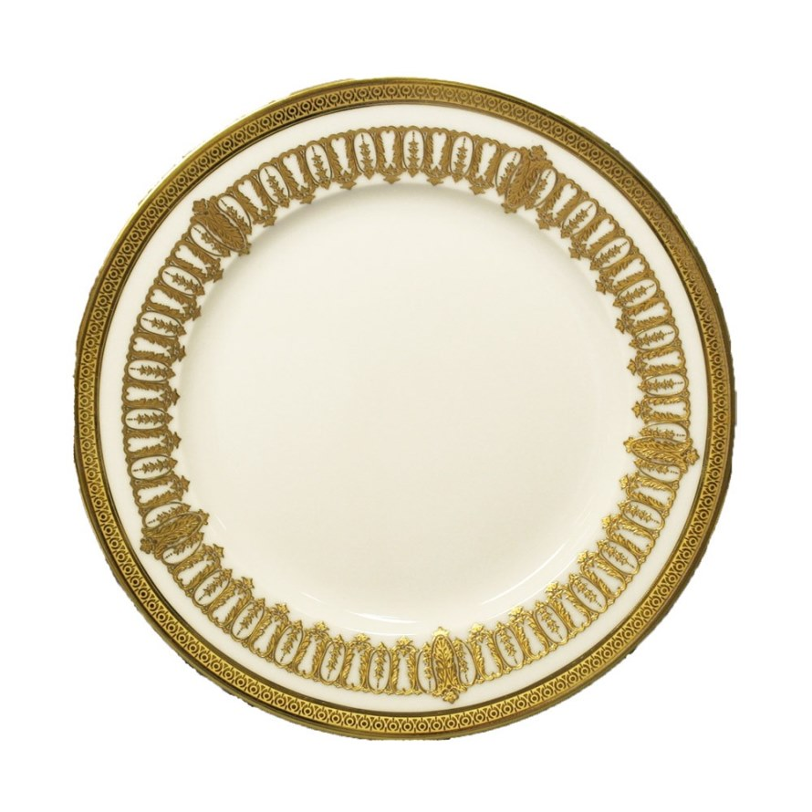Haviland ST HONORE WHITE AND GOLD Dessert Plate