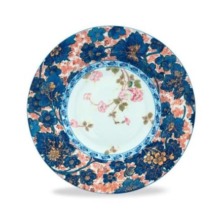 Haviland DAMMOUSE Rim Soup Plate, Large