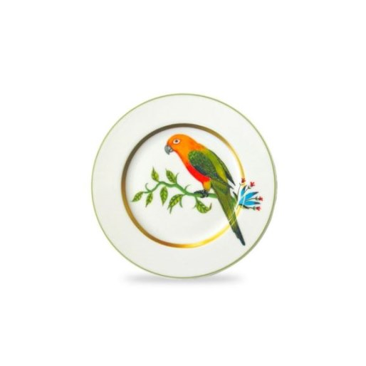 Haviland ALAIN THOMAS Bread & Butter plate Yellow Parrot