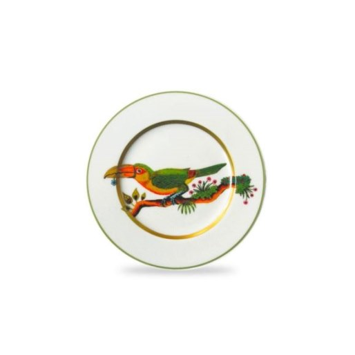 Haviland ALAIN THOMAS Bread & Butter plate Toucan Facing Left