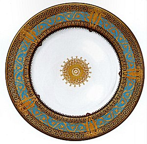 Haviland SALON MURAT TURQUOISE AND GOLD Dinnerware