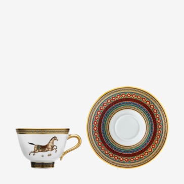 Hermes Cheval d'Orient Tea Cup and Saucer No. 3