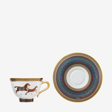 Hermes Cheval d'Orient Tea Cup and Saucer No. 6