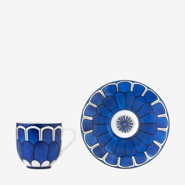 Hermes Bleus d'Ailleurs Coffee Cup and Saucer