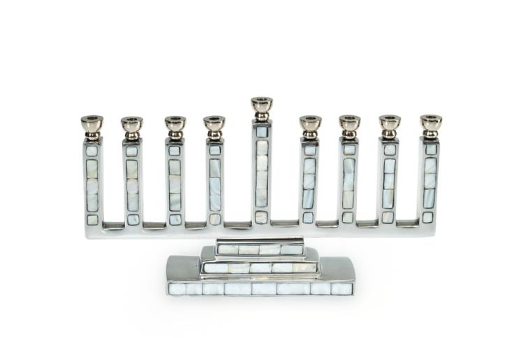 Julia Knight Classic Menorah Mother of Pearl